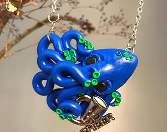 Cheer Leading Octopus Necklace