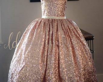 NEW!!! The Juliet Dress in Blush Sequins - Flower Girl Dress