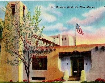 New Mexico Vintage Postcard - The New Mexico Museum of Art, Santa Fe (Unused)