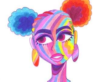 Rainbow Lady I