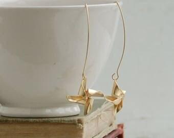 Custom order for  lievanomaura  Gold Pinwheel Earrings