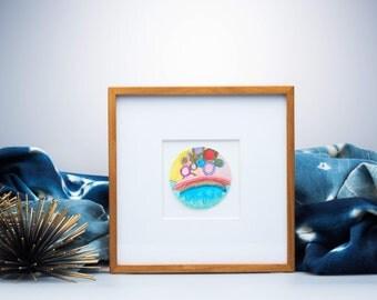 water color, circle art