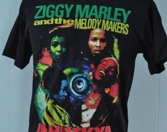 Rare Ziggy Marley Tee Melody Makers Bob Kozmik Jahmekya 90s Reggae Tshirt LARGE