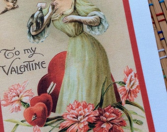 I Give You My Heart:  Pretty Victorian Giclee Patch, R