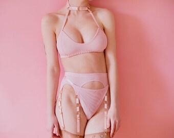 Elena thong in pink  by Kayleigh Peddie