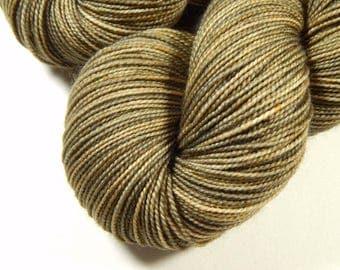 Hand Dyed Sock Yarn - Sock Weight Superwash Merino Wool Yarn - Driftwood - Knitting Yarn, Neutral Tonal Fingering Yarn, DIY Gift