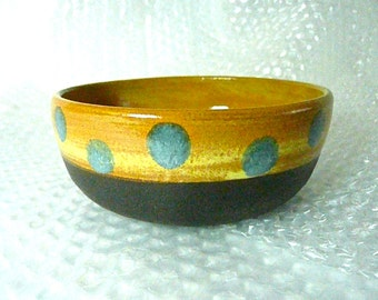 CHILD'S BOWL with Polka-Dots, Ice Cream, Soup Bowl ,free pendant with each order