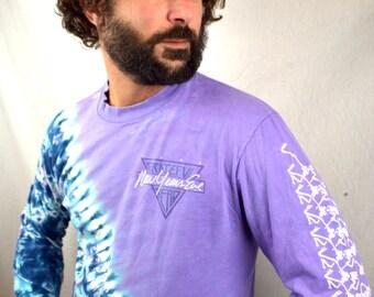 RARE Vintage 1988 NYE New Years Eve Grateful Dead Long Sleeve Tie Dye Tee Shirt -Skeleton