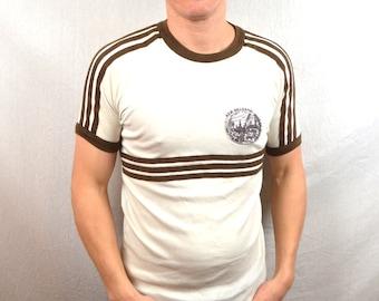 Vintage 80s New Orleans Super Soft Ringer Tshirt Tee Shirt