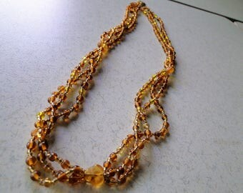 Brown & Gold beaded necklace