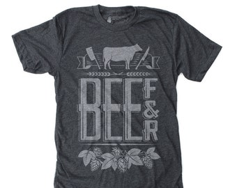 Father's Day Gift, T-shirt for Dad, Dad to be Gift, Graphic Tee, Gift for him - Beef & Beer t shirt