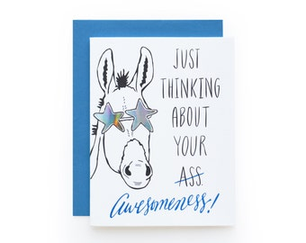 Awesomeness - letterpress card