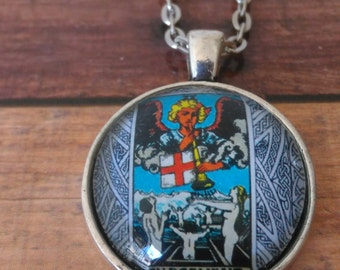 Tarot Card Necklace -- Judgement