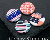 2pcs 25mm Round Handmade Photo Ceramic / Porcelain Pendants / Charms (CPA41-44) - High Quality No Scratch Guarantee