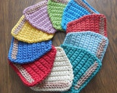Crochet Coffee Cup Coasters / You pick the quantity and the color