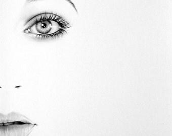 Kate Bush Half Series Original Pencil Portrait