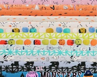 PREORDER: Lil Monsters - Fat Quarter Bundle by Cotton + Steel - Full Collection - 16 prints