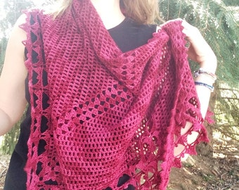 Louisa ~ Crochet PATTERN for lace shawl