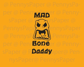 Mad Bone Daddy Jack Skellington Nightmare before Christmas Inspired Paper Cut File for silhouette or circut - SVG file - Scrapbooking