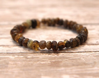 Baltic Amber Bracelet, natural pain relief, kids, teens, adults, polished amber jewelry, beaded bracelet