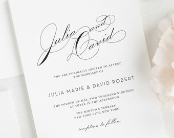 Vintage Glam Wedding Invitations - Deposit