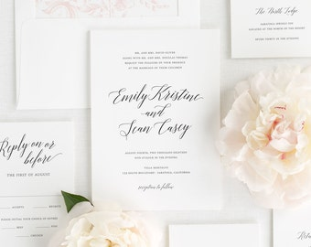 Garden Romance Wedding Invitations - Sample