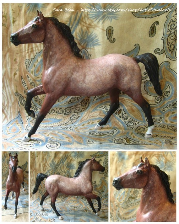 MADE TO ORDER Custom 6 Inch Breyer Horse Figure, Made To Your Specifications, ooak cm Classic Dream Horse Painted Just For You - Portrait