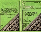 Vintage 1940s SEMCO Crochet Edges of Distinction Book No 14 Patterns Booklet Fancy Crochet Lace Edgings