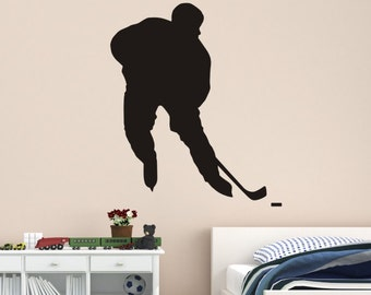 Hockey Player Wall Decal - Hockey Wall Decals - Hockey Decal - Ice Hockey Decal - Hockey - Kids bedroom hockey decal - hockey player
