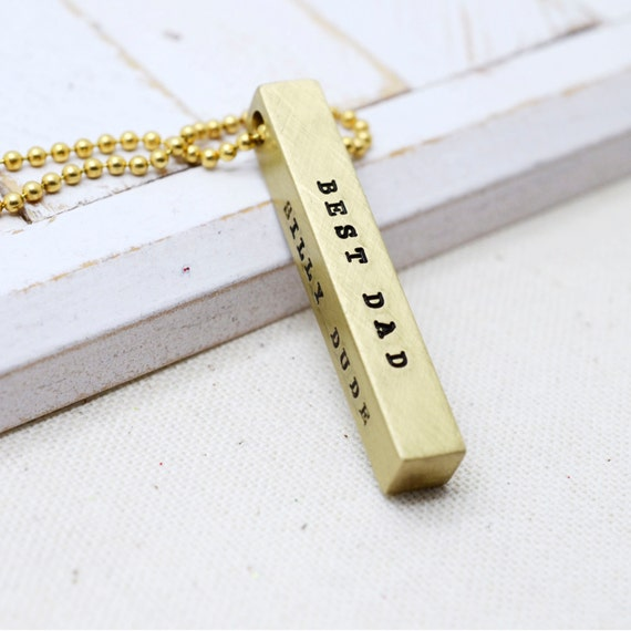 Valentines Day, Valentine Gift, Men's Jewelry, Dainty Gold Bar, Anniversary Gift, Gifts for Him 2017, Skinny Bar Necklace, Husband Gift