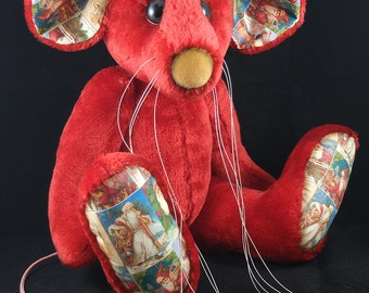 Pudding a Giant 16 inch Mousebear REDUCED a collectable OOAK Artist Bear by Bears of Bath
