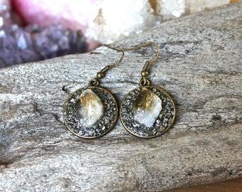 Citrine Dangle Earrings - Minimalist - Modern Jewelry - November Birthstone - Crystal Point Jewelry - Yellow Stone Earrings - Bridal Jewelry