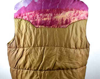 Impressive 1970's Sears Western Wear Vest with Photoprint