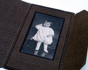 Antique Photograph Little Girl Dressed in White