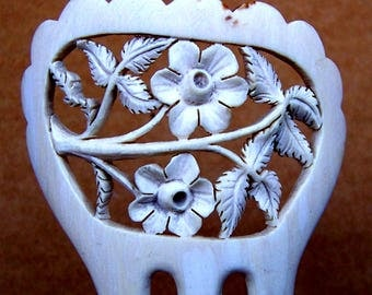 Victorian carved flowers hair comb hair accessory headpiece headdress decorative comb hair jewelry