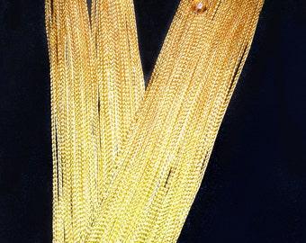 Lucite Crystal Floral embellished tassel fringe earrings
