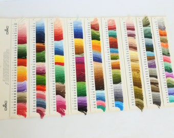 DMC Color Card W 200A 6th Edition for Six Strand and Pearl Cotton Embroidery Floss Actual Thread Strands