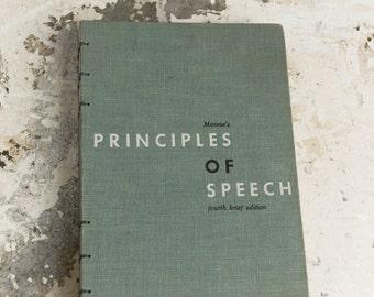 1958 SPEECH Vintage Notebook Journal