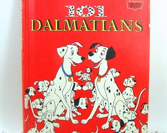 101 Dalmatians Disney Book, Walt Disney Book Club Edition Vintage Childrens Dog Book, Young Readers Storybook, First American Edition 1981