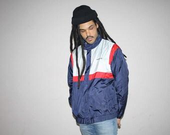 1990s Vintage Adidas 3 Stripe Trefoil Hip Hop Windbreaker Jacket - 90s Adidas - 90s Clothing - MV0101