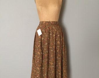 autumnal cotton skirt | full flouncy maxi skirt