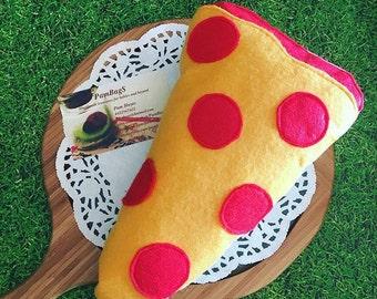 Felt food pepperoni pizza slice
