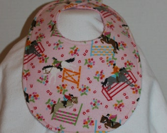 Horse Show Flannel / Terry Cloth Bib