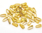 300pcs Wholesale Bails - Gold Pinch Bail Jewelry Findings - Gold Necklace Bails - Bulk Lot DIY Beads - 11mm x 4mm Overlap - Nickel Free A22
