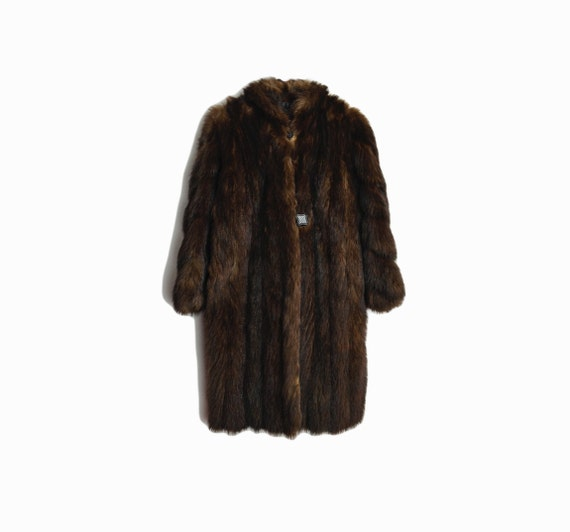 Vintage Dark Brown Mink Coat / Mid-Length Fur Coat / Winter Wedding Fur Coat by Le Parisien Furs - women's small/medium