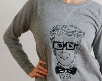 YSL Yves Saint Laurent Homage Embroidered Sweatshirt