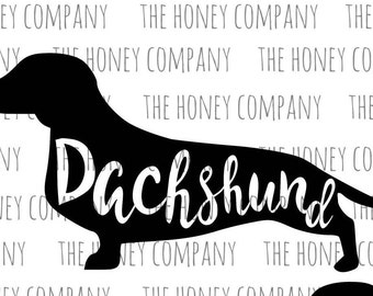 Dachshund SVG PNG DXF Silhouette Instant Download Silhouette Cricut Files Vector File