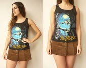 1990's Vintage IRON MAIDEN Fear Of The Dark Rock Band Tee T-Shirt Vest Size Small