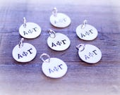 Hand Stamped Sorority Charms, Fraternity Charms, Hand Stamped Greek Letter Charms, Silver Greek Charms, Sterling Silver Sorority Charms