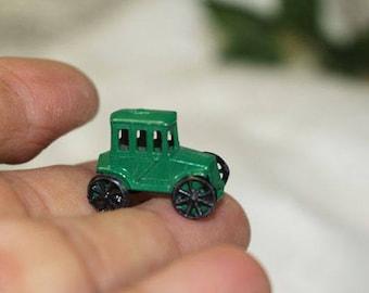 Vintage Car Game Piece, Green Vintage Car Token from game